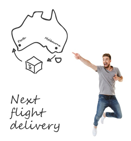 Need an item to be delivered interstate by today? Luckily we have just the VIP service you need - our 'Next Flight' delivery service.